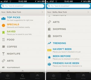 search options1 300x263 Foursquare iOS 6 Güncellemesini Yayınladı!